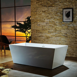 Virtu USA - Virtu USA Serenity VTU-1367 67 in. Freestanding Soaking Bathtub Multicolor - VTU - Shop for Tubs from Hayneedle.com! Complete your bathroom in distinctive style with the Virtu USA Serenity VTU-1367 67 in. Freestanding Soaking Bathtub. Elegantly crafted of ultra-durable acrylic in brilliant white this freestanding tub features a high-gloss finish that ensures a long-lasting luster. Its stainless steel frame and adjustable metal feet offer added stability and strength.This tub is backed by a two-year limited warranty.About Virtu USAEach Virtu USA vanity is meticulously handcrafted by veteran trade professionals. Focusing on high-quality customer service and brilliantly designed and constructed vanities Virtu USA strives for unparalleled uniqueness in both customer care and high-end products.