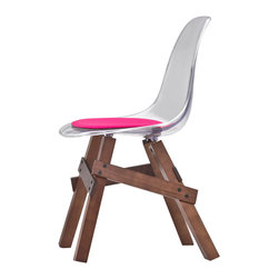 Kubikoff - Icon Chair, Lime, Lime Seat Pad, Walnut-Stained - Icon Chair
