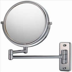 Aptations - Mirror Image 21145 Double Arm Wall Mirror 5X / 1X Chrome - Mirror Image 21145 Double Arm Wall Mirror 5X / 1X Chrome