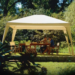 Coolaroo 10 x 12 ft. Aluminum Gazebo Canopy - About Coolaroo GazebosThere is something for everyone in the Coolaroo range of stylish gazebos. Every model while offering a variety of distinct features and details features Coolaroo's remarkable 90% UV-block fabric. All Coolaroo gazebos include powder-coated frames made from rust-resistant aluminum or sturdy steel so you can count on season after season of reliable outdoor performance.