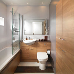 AMBIANCE BAIN - MASTER BATHROOM BY AMBIANCE BAIN - Fitted Ambiance Bain bathrooms offers a wide collection of units available in numerous sizes allowing you to have a truly unique made-to-measure bathroom. It also presents practical storage as well as hiding the plumbing behind units and plinth when required.
