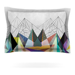 """Kess InHouse - Mareike Boehmer """"Colorflash 3X"""" Grey Rainbow Pillow Sham (Cotton, 40"""" x 20"""") - Pairing your already chic duvet cover with playful pillow shams is the perfect way to tie your bedroom together. There are endless possibilities to feed your artistic palette with these imaginative pillow shams. It will looks so elegant you won't want ruin the masterpiece you have created when you go to bed. Not only are these pillow shams nice to look at they are also made from a high quality cotton blend. They are so soft that they will elevate your sleep up to level that is beyond Cloud 9. We always print our goods with the highest quality printing process in order to maintain the integrity of the art that you are adeptly displaying. This means that you won't have to worry about your art fading or your sham loosing it's freshness."""