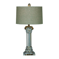 Bassett Mirror Company - Bassett Mirror L2506T Corinth Table Lamp in Antique Gold Lucite - Corinth Table Lamp in Antique Gold Lucite belongs to Old World Collection by Bassett Mirror Company Bassett Mirror is fluent in this art, showing a terrific contemporary furniture that will satisfy on the one hand fans of home coziness, and on the other hand - seekers of non-standard design solutions also. One of the many strengths of the Bassett Mirror is using high quality materials for perfect embodiment of brilliant design ideas. Lamp (1)