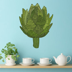 My Wonderful Walls - Artichoke Wall Sticker Decal – Eat Your Veggies by Valentina Harper, Large - - Product: ornate artichoke wall sticker decal
