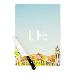 """Kess InHouse - Libertad Leal """"Life is a Rollercoaster"""" Cutting Board (11.5"""" x 15.75"""") - These sturdy tempered glass cutting boards will make everything you chop look like a Dutch painting. Perfect the art of cooking with your KESS InHouse unique art cutting board. Go for patterns or painted, either way this non-skid, dishwasher safe cutting board is perfect for preparing any artistic dinner or serving. Cut, chop, serve or frame, all of these unique cutting boards are gorgeous."""