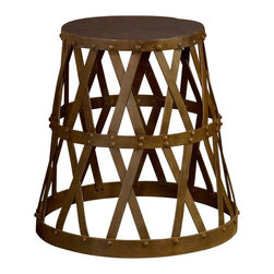 BoBo's Intriguing Objects - Side Show Table/Stool - With its offbeat combo of an iron base and a rubber top, this openwork piece brings an intriguing vibe to your favorite setting. You can use it as a side table or stool — but just don't try any lion taming at home!