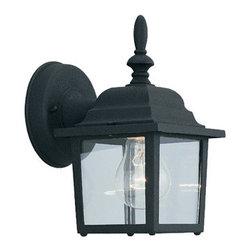 """Designer Fountain - Builder Cast Aluminum 5 1/4"""" Aluminum Wall Lantern - 5 1/4 inches cast aluminum wall lantern"""