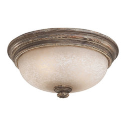 Minka Lavery - Minka Lavery 5319-299 Regents Row 2 Light Flush Mount - Regents Patina Finish