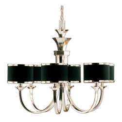 Uttermost - Uttermost 21131 Tuxedo 6-Light Black Shade Chandelier - Uttermost 21131 Tuxedo 6-Light Black Shade Chandelier