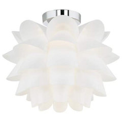 Possini Euro White Flower Ceiling Light | 55DowningStreet.com