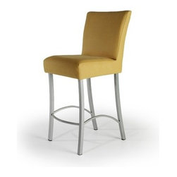 """Createch - Angle 30"""" Barstool - Features: -Bar height barstool. -Angle collection. -Heavy gauge steel construction. -Contemporary bar stool with upholstered seat. -Large choice of fabrics is available. -Ultra resistant construction with tick steel metal. -Nice choice of metal color. -Environment friendly production process, non - toxic paint and fabrics. -High temperature baked powder coating finish insure long - lasting. -Fire retardant high density foam. -Non swivel stool and very stable. -Good commercial product for bars and restaurants. Specifications: -UPS quick ship program 5 - 10 days. -High qulity made in North America. -Efficient welding joints warranty for five years. -Seat Height: 30"""". -Overall dimensions: 40.5"""" H x 18"""" W x 15"""" D."""