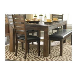 Homelegance - Eagleville Dining Table with Butterfly Leaf - Bench and chairs sold separately.