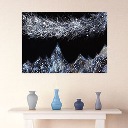 My Wonderful Walls - Hymns to Midnight Wall Decal - Ethereal Art by Elise Mahan, Medium - - Product:   mountains and stars in a midnight sky wall decal