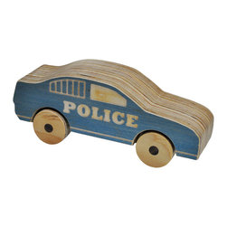 Beau Beau - Wooden Police Car - Pull over and let me see your hands! This wooden police car is ready to lay down the law. There's no question the law will be obeyed once your little police officer gets their hands on this wooden car push toy. Pick this guy up for your little one and you'll be police chief of the year!