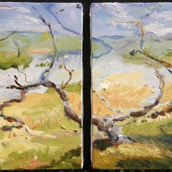 Untitled Landscape (Diptych) Artwork