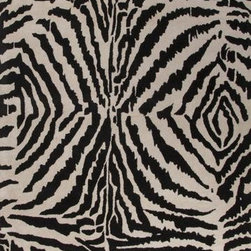 Jaipur - Jaipur En Casa by Luli Sanchez Tufted Zebra Ikat 5' x 8' Dark Ivory, Ebony Rug - This Hand Tufted area rug would make a great addition to any room in the house. The plush feel and durability of this area rug will make it a must for your home.