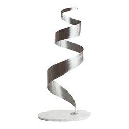 Jon Koehler Sculpture - Cerebral - Kinetic Stainless Steel Sculpture - 35 x 15 x 17 inches