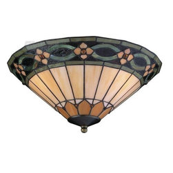 Craftmade - Craftmade Leaded Glass with Jewels Elegance Bowl Light Kit - Energy Star - Elegance Bowl Kit with GU24 CFL Bulb Included - Jeweled Tiffany Style Leaded Glass