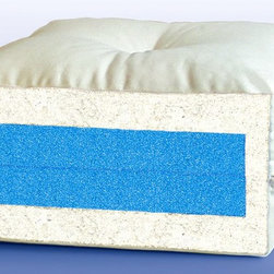 """Lifestyle Solutions - Plush 8 in. Mattress (Full) - Choose Size: FullPure Fibrelon puff battingTwo layers of 1.5"""" high-density Foam core28 tufts7.5 oz. natural Poly Cotton twill cover 1- year manufacturer warranty. Full: 75 in. L x 54 in. W x 8 in. H. Queen: 80 in. L x 60 in. W x 8 in. H"""