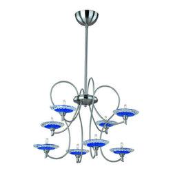 ET2 - ET2 E22101 Serenity 3-Tier Chandelier with 8-Lights - Product Features: