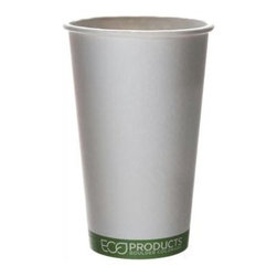 Eco-products Hot Cup - Greenstripe - 16 Oz - 50 Ct - Case Of 20 - Turn your daily coffee or tea into an environmental statement with this renewable, compostable hot cup.