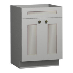 US Cabinet Depot - White Shaker 24 inch Vanity from US Cabinet Depot - *Vanity Only