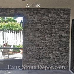 Faux Stone Panels - Customer's phots