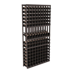 Wine Racks America - 9 Column Display Row Wine Cellar Kit in Premium Redwood, Black + Satin Finish - We select from the highest grade materials available. Completely solid assembly retains strength while displaying 9 of your favorite bottles. We guarantee it will last. All the edges of our products are softened to ensure you won't get nicks or splinters, like you will from budget competition. You'll be satisfied. We guarantee that, too.