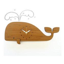 Decoylab Modern Animal Whale Clock - Decoylab Modern Animal Whale Clock