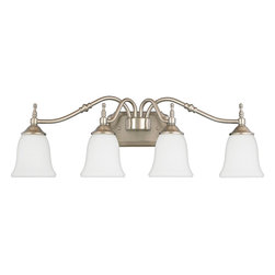 Quoizel - Quoizel TT8604BN Tritan Transitional Bathroom / Vanity Light - This timeless fixture features lovely bellshaped shades that provide a bright, yet soft light, and the classic finish coordinates with many faucets styles.