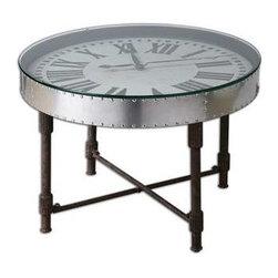 Uttermost - Uttermost Cassem Clock Table - 24321 - Uttermost's tables combine premium quality materials with unique high-style design.