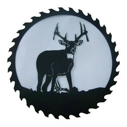 "Deer Buck Metal Saw Blade Black, 24"" - This listing is for one sawblade that looks like the picture."