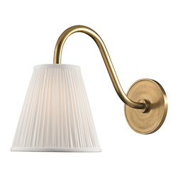HUDSON VALLEY LIGHTING - Hudson Valley Lighting Remsen-Wall Sconce Aged Brass - Free Shipping