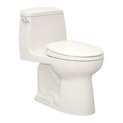 TOTO - TOTO Eco UltraMax Elongated One-Piece Toilet, Cotton White (MS854114EL#01) - TOTO MS854114EL#01 Eco UltraMax Elongated One-Piece Toilet, Cotton White