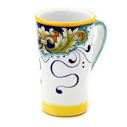 Artistica - Hand Made in Italy - Deruta Foglie: Tall Mug 16 Oz. - Deruta Foglie: