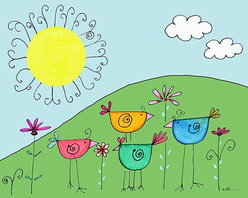 Oh How Cute Kids by Serena Bowman - Blue Jay Way, Ready To Hang Canvas Kid's Wall Decor, 24 X 30 - Each kid is unique in his/her own way, so why shouldn't their wall decor be as well! With our extensive selection of canvas wall art for kids, from princesses to spaceships, from cowboys to traveling girls, we'll help you find that perfect piece for your special one.  Or you can fill the entire room with our imaginative art; every canvas is part of a coordinated series, an easy way to provide a complete and unified look for any room.