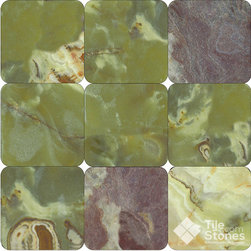 Green Onyx 4x4 Tumbled - Call to order: 1-877-558-8484