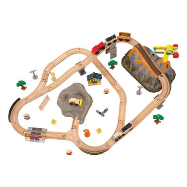 KidKraft - Kidkraft Home Indoor Kids Playroom Decorative Construction Bucket Top Train Set - Our Bucket Top Construction Train Set lets kids explore an entire world without even leaving the house. Fun details like a molded mountain help this set look even more realistic. When playtime is finished, storing this train set is a breeze  everything comes packaged in a convenient plastic bucket.
