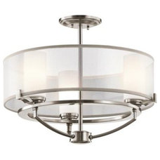 bathroom lighting and vanity lighting Saldana Semi-Flushmount by Kichler