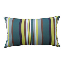 Jiti - Jiti Aloe Stripe Pillow - Expressive colors, dynamic patterns and diverse materials in conjunction with clean, modern design - this is Jiti.