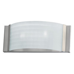 Joshua Marshal - One Light Satin Nickel Wall Light - One Light Satin Nickel Wall Light