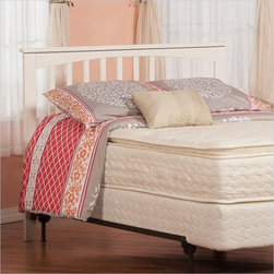 Atlantic Furniture - Atlantic Furniture Mission Twin Headboard in White-Twin - Atlantic Furniture - Headboards - R187822 - The simple yet elegant style of the Mission headboard will compliment any bedroom setting. The Traditional look and feel of the slats matched with generous crown molding make the Mission headboard a popular selection.