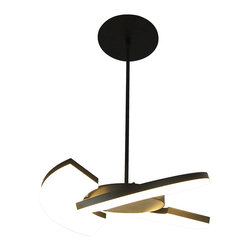 Unique Design Pendant Light with Black Acrylic Shade - The great beauty of this pendant light lies in its clarity and simplicity at the same time providing multiple lighting effects thanks to its design. It features a sleek three-part shades, which can be spun and converted into a couple of different shapes to demonstrate varying styles and tastes. A great lighting fixture that blends visual interests and functionality.