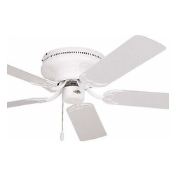 Emerson - Emerson Contemporary Snugger 52 Ceiling Fan in Gloss White - Emerson Contemporary Snugger 52 Model CF805SWW in Gloss White with Reversible Appliance White/Bleached Oak Finished Blades.