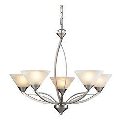 Elk Lighting - Five Light Chandelier - Bulb Type:5. Bulb Base:Medium (E26). Bulb Count:5. Bulbs Not Included