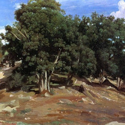 "Jean-Baptiste-Camille Corot Fontainebleau - Black Oaks of Bas-Breau - 18"" x 24"" - 18"" x 24"" Jean-Baptiste-Camille Corot Fontainebleau - Black Oaks of Bas-Breau premium archival print reproduced to meet museum quality standards. Our museum quality archival prints are produced using high-precision print technology for a more accurate reproduction printed on high quality, heavyweight matte presentation paper with fade-resistant, archival inks. Our progressive business model allows us to offer works of art to you at the best wholesale pricing, significantly less than art gallery prices, affordable to all. This line of artwork is produced with extra white border space (if you choose to have it framed, for your framer to work with to frame properly or utilize a larger mat and/or frame).  We present a comprehensive collection of exceptional art reproductions byJean-Baptiste-Camille Corot."