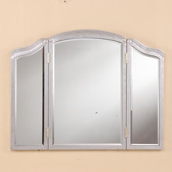 "PWG Lighting / Lighting By Pecaso - Yvonne Crystal Vanity Fixture MR3-6296SC - 3 Fold Mirror 39""x0.75""x30""H SC"