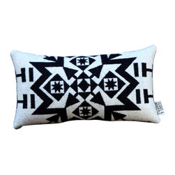 Scout & Whistle - Snowflake White Pillow - We're kind of over winter, but we'll make an exception for this stunning snow-inspired pillow.