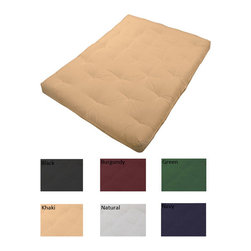 EpicFurnishings - 8-inch Loft Full-size Cotton/ Foam Premiere Futon Mattress - Sit and sleep in comfort on this 8-inch loft cotton/foam futon mattress. Built with long-lasting durability and support in mind,the Premiere futon mattress will provide years of quality use and comfort. Available in an array of colors.
