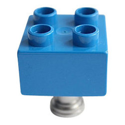 DaRosa Creations - Building Brick Drawer / Cabinet Knob, Dark Blue - Kids Drawer Knobs made with Toy Brick